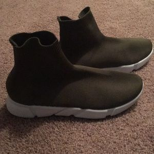 Olive slip on sneakers (Balenciaga look alikes)
